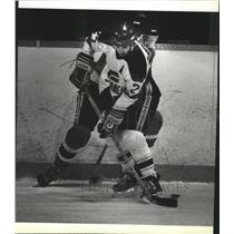 1985 Press Photo Calgary Flames hockey player, Mike Hilt - sps03772