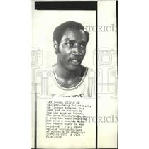 1974 Press Photo Los Angeles Lakers basketball player, Happy Hairston