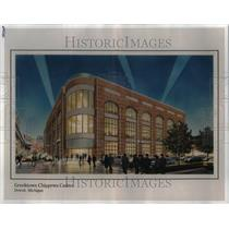 Press Photo Drawing Greektown Chippewa Casino Detroit - RRU35943