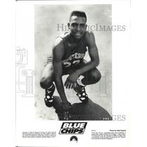 "1994 Press Photo Basketball star, Anfernee ""Penny"" Hardaway, in ""Blue Chips"""