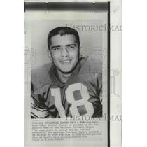 1963 Press Photo Los Angeles Rams quarterback, Roman Gabriel - sps04275