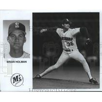 1990 Press Photo Seattle Mariners baseball pitcher, Brian Holman - sps04561