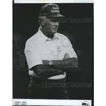 1985 Press Photo Chuck Knox-Seattle Seahawks Head Football Coach Crosses Arms