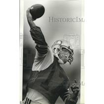 1984 Press Photo Seattle Seahawks football player, David Krieg - sps04805