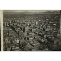 1930 Press Photo Aerial View of Spokane, Washington - spx17744