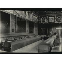 1924 Press Photo Dining Area Inside Papal Embassy, Rome - spx17751