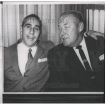 "1958 Press Photo 49ers owner, Vic Morabito & football coach Howard ""Red"" Hickey"