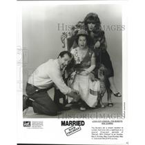 1992 Press Photo Ed O'Neill and Katey Sagal star in Married, With Children.