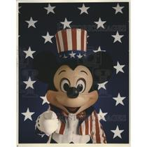 1992 Press Photo Mickey Mouse on Disney's All-Star Fourth of July Spectacular.