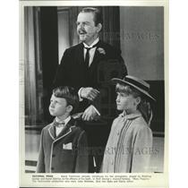 1964 Press Photo David Tomlinson, Matthew Garber & Karen Dotrice in Mary Poppins