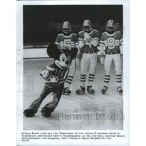 1987 Press Photo Mickey Mouse in Magic Kingdom on Ice's Superbowl of the Century