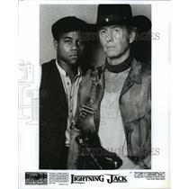 1994 Press Photo Paul Hogan and Cuba Gooding Jr. in Lightning Jack. - spp09085