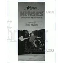 1992 Press Photo Soundtrack cover for Walt Disney's Newsies film. - spp10547