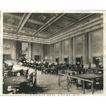 1930 Press Photo Baccarat Salon in Palais de la Méditerranée in Nice, France