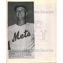 "1962 Press Photo ""Marvelous Marv"" Throneberry, New York Mets third baseman"