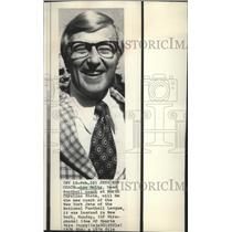 1974 Press Photo Lou Holtz, head football coach Carolina State - sps05414