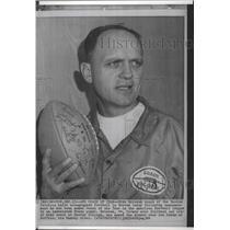 1964 Press Photo Boston Patriots football coach, Mike Holovak, Coach of the Year