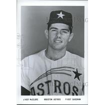 1965 Press Photo Jack McClure, First Baseman, Houston Astros - sbs06177