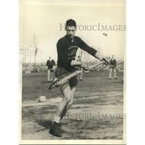 1931 Press Photo G. S. James, captain of Navy Lacrosse team - sbs06328