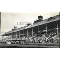 1915 Press Photo Opening day at the Spokane Interstate Fair Grounds race track