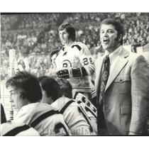 "1973 Press Photo Boston Bruins hockey coach, Armand ""Bep"" Guidolin - sps05941"