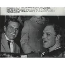 1969 Press Photo Chicago Blackhawks hockey's Bill Wirtz and Bobby Hull