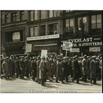 1931 Press Photo New York Socialist marching to Union Square for meeting NYC