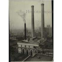 1928 Press Photo Washington Water Plant's Central Heating Steam Plant
