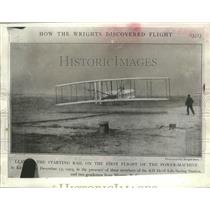 Press Photo First flight of the power machine off the coast in Kitty Hawk, NC
