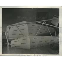 1932 Press Photo Wingless Aircraft Secretly Built in Broadway Shop in New York