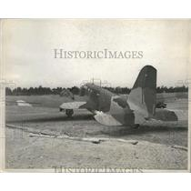 1938 Press Photo Huge Bomber Camouflaged for Great Air Manuevers - ney27143