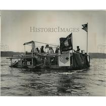 1982 Press Photo Boy Scout Boat, SS Murgatroid, on the Mississippi River