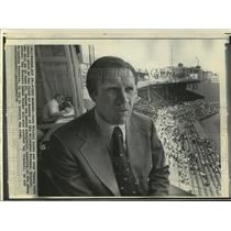 1972 Press Photo Dave Bristol, Former Milwaukee Brewers Manager, at Fenway Park