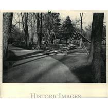 1983 Press Photo Tot-Lot Playground at Cedar Creek Park in Cedarburg, Wisconsin