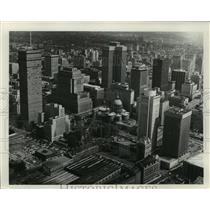 1988 Press Photo Mary Queen of the World Cathedral, Montreal, Aerial - mja70643