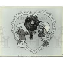 "1983 Press Photo NBC Animated Special ""My Smurfy Valentine"" - mja70685"