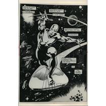 1988 Press Photo Cartoon- Newspaper-Comic: The Silver Surfer, a graphic novel