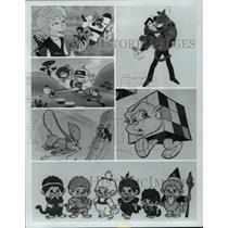 1983 Press Photo ABC Television Network's Children's Programming Cartoon Lineup
