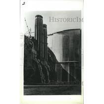 1983 Press Photo Upstream Shot of Hoover Dam Showing Water Intake Tower