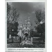 1985 Press Photo The Sleeping Beauty Castle is a landmark at Disneyland