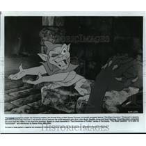 "1985 Press Photo Creeper is eager to please his master in ""The Black Cauldron"""