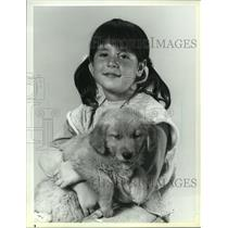 """1984 Press Photo eight-year-old Soleil Moon-Frye of NBC's """"Punky Brewster"""""""