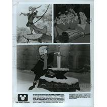 "1986 Press Photo Disney's Summer Animation Classic Festival showing ""Robin Hood"""