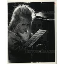 1990 Press Photo Hayley Hoffman at Concordia's Day Care Center, Wisconsin