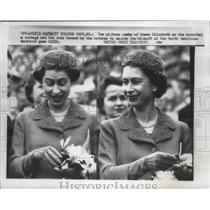 1957 Press Photo Queen Elizabeth II Attending North Carolina-Maryland Game