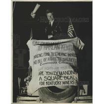 1932 Press Photo Lucien Koch for Kentucky Miners - nef67471