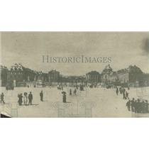 1918 Press Photo View of the Palace at Versailles showing the main facade
