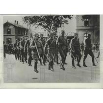 1934 Press Photo Italian Forces Concentrated Along Italy's Northern Frontier