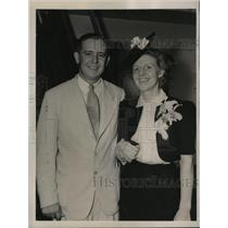 1939 Press Photo New York Harold Peters, and Bride Sail for Berlin Germany NYC