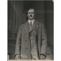1921 Press Photo Captain O. Holmberg at the U.S. Capitol - ney27406